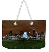 Cleveland Skyline At Night Weekender Tote Bag