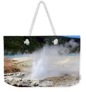 Cliff Geyser Black Sand Basin Yellowstone National Park Weekender Tote Bag