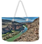 Cliff View Of Big Bend Texas National Park And Rio Grande  Weekender Tote Bag