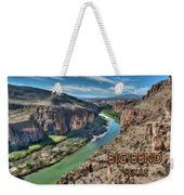 Cliff View Of Big Bend Texas National Park And Rio Grande Text Big Bend Texas Weekender Tote Bag