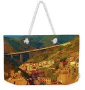 Cliff Village Weekender Tote Bag
