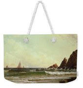 Cliffs At Cape Elizabeth Weekender Tote Bag by Alfred Thompson Bricher