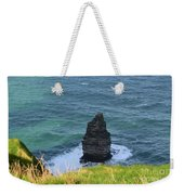 Cliff's Of Moher Needle Rock Formation In Ireland Weekender Tote Bag
