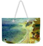 Cliffs On The Coast Near Pourville 1879 Weekender Tote Bag