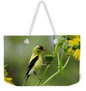 Clinging Goldfinch Weekender Tote Bag