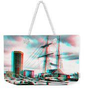 Clipper City - Use Red-cyan 3d Glasses Weekender Tote Bag