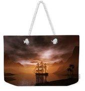 Clipper Ship At Sunset Weekender Tote Bag