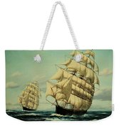 Clipper Ships Racing To Port Weekender Tote Bag