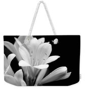 Clivia Flowers Black And White Weekender Tote Bag