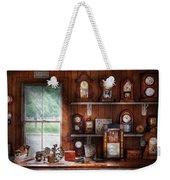 Clocksmith - In The Clock Repair Shop Weekender Tote Bag by Mike Savad
