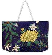 Cloisonee' Flower Weekender Tote Bag