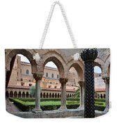 Cloister Of The Abbey Of Monreale. Weekender Tote Bag