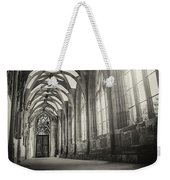 Cloisters Of Basel Munster Switzerland In Black And White  Weekender Tote Bag