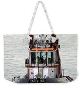 Close Up Of A Tugboat In Venice Harbor Weekender Tote Bag