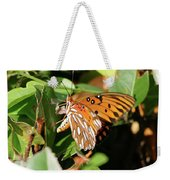Close-up Of A Vibrant Gulf Fritilary Butterfly  Weekender Tote Bag