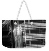 Close Up Of Black And White Glass Building Weekender Tote Bag