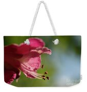 Red Horsechestnut Flower Weekender Tote Bag