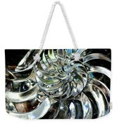 Close-up Of Glass Chambered Nautilus Weekender Tote Bag
