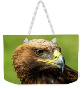 Close-up Of Golden Eagle With Turned Head Weekender Tote Bag