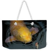 Close Up Of Single Large Yellow Koi Fish With Whiskers Weekender Tote Bag