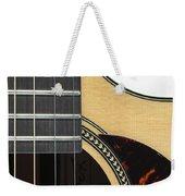 Close-up Of Steel-string Guitar Weekender Tote Bag