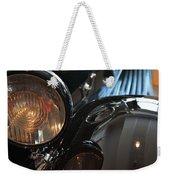 Close Up On Black Shining Car Round Light Weekender Tote Bag