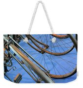 Close Up On Many Wheels From Bicycles  Weekender Tote Bag