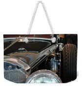 Close Up On Vintage Black Shining Car Weekender Tote Bag