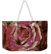 Close Up Pink Red Rose Weekender Tote Bag