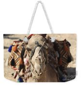 Close-up Portrait Of A Camel Weekender Tote Bag