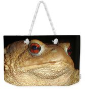 Close Up Portrait Of A Common Toad Weekender Tote Bag