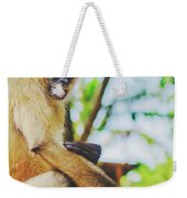 Close-up Portrait Of A Nicaraguan Spider Monkey Sitting And Looking At The Camera Weekender Tote Bag