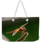Close Up Red Dragonfly Weekender Tote Bag