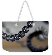 Close-up View Of A String Of Beads Weekender Tote Bag