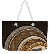 Close-up View Of Moorish Arches In The Alhambra Palace In Granad Weekender Tote Bag