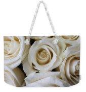 Close Up White Roses Weekender Tote Bag
