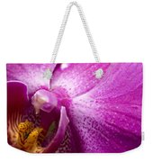 Close View Of A Pink Orchid Blossom Weekender Tote Bag