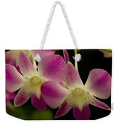 Close View Of A Pink Orchid Flowers Weekender Tote Bag
