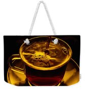 Close View Of Coffee Being Poured Weekender Tote Bag