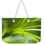 Close View Of Green Flower Weekender Tote Bag