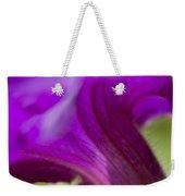 Close View Of Purple Petunia Weekender Tote Bag