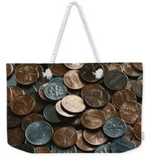 Close View Of United States Coins Weekender Tote Bag