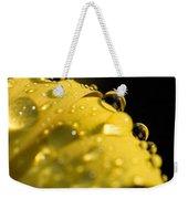 Close View Of Water Droplets Weekender Tote Bag