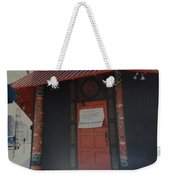 Closed For Earthquake Weekender Tote Bag