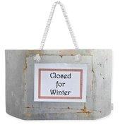 Closed For Winter Weekender Tote Bag