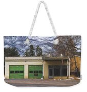 Closed Service Station Painterly Impressions Weekender Tote Bag