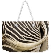 Closeup Of A Grevys Zebras Rear End Weekender Tote Bag