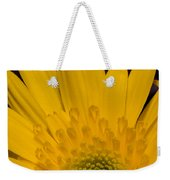 Closeup Of A Yellow Chrysanthemum Weekender Tote Bag