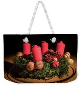 Closeup Of An Advent Wreath, Unlit Candles Weekender Tote Bag