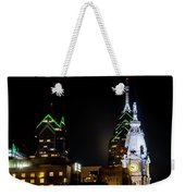 Closeup Of City Hall Philadelphia Weekender Tote Bag
